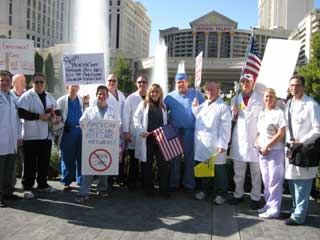Healthcare Tea Party on the Las Vegas Strip today
